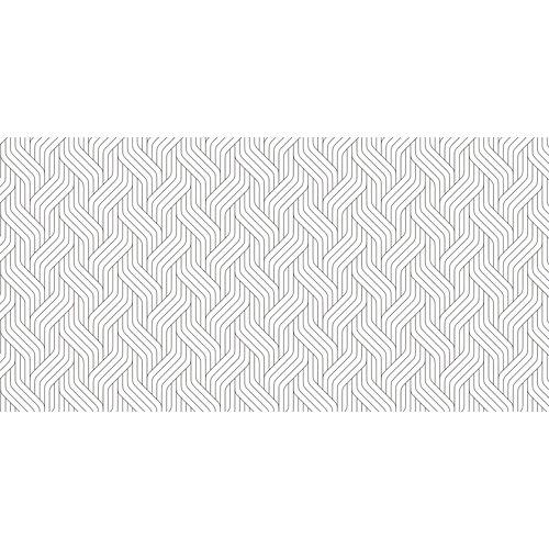 Rollo adhesivo geométrico ondas blanco 1x2 m