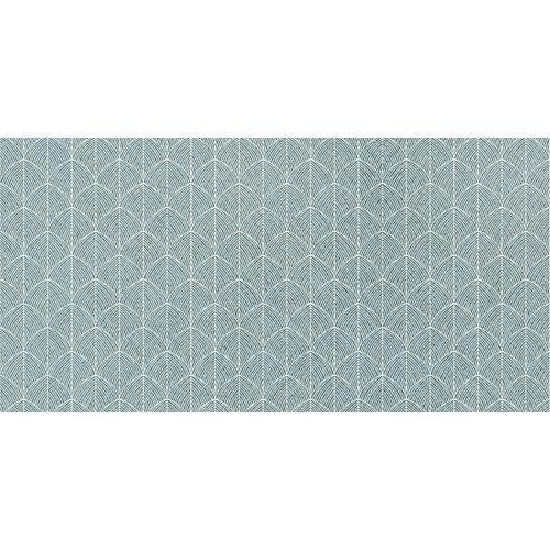 Rollo adhesivo geométrico leaves verde 1x2 m
