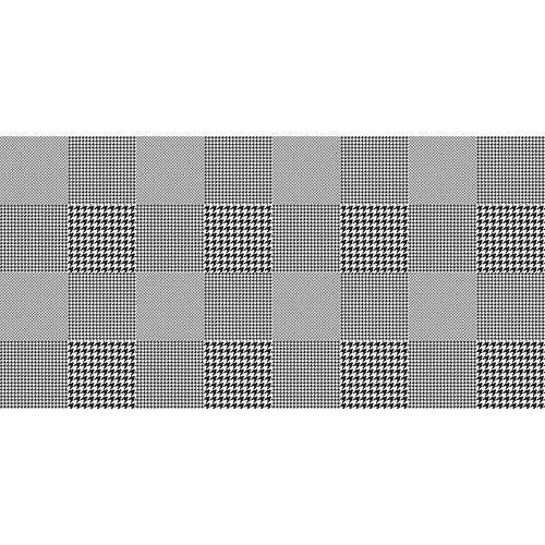Rollo adhesivo houndstooth 1x2 m