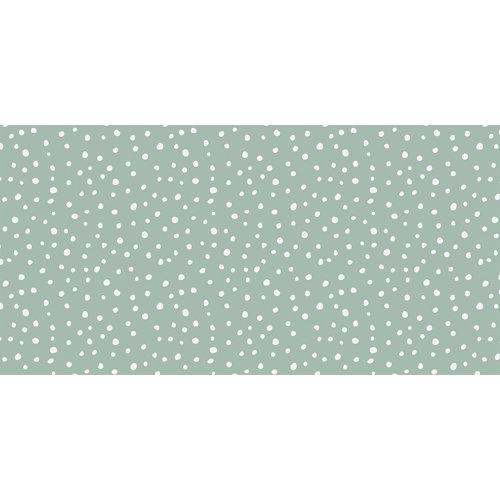 Rollo adhesivo infantil irregular dots mint 1x2 m