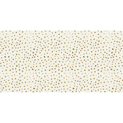 Rollo adhesivo infantil white ball gold 1x2 m