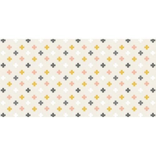 Rollo adhesivo infantil cruces colores 1x2 m