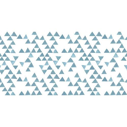 Rollo adhesivo infantil pirámide azul 1x2 m