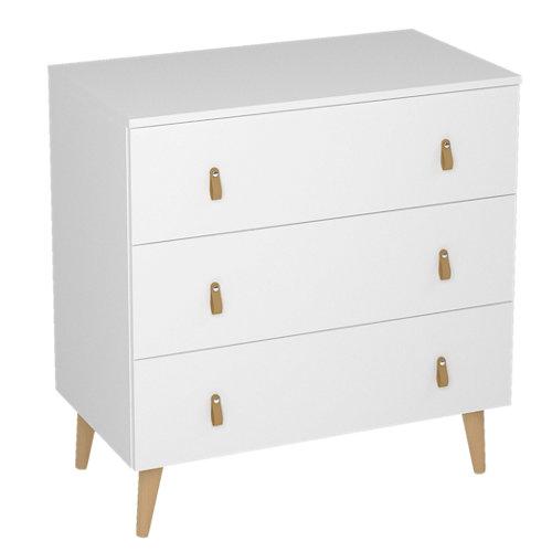 Cajonera 3 cajones serie retro blanca 83x80x48cm (altoxanchoxfondo cm)