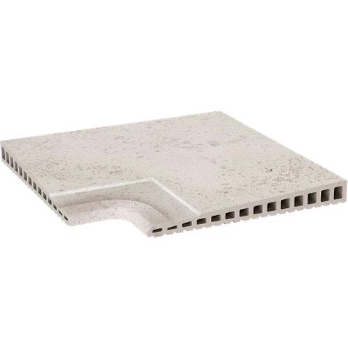 Ángulo de peldaño extrusionado blanco de 33 x 33 cm
