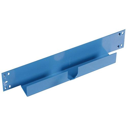 Pack 2 largueros para estantería de metal epoxi de 6.5x30x3 cm