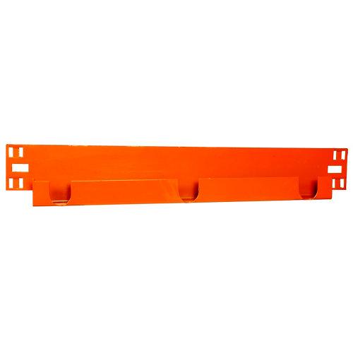 Pack 2 largueros para estantería de metal epoxi de 6.5x90x3 cm