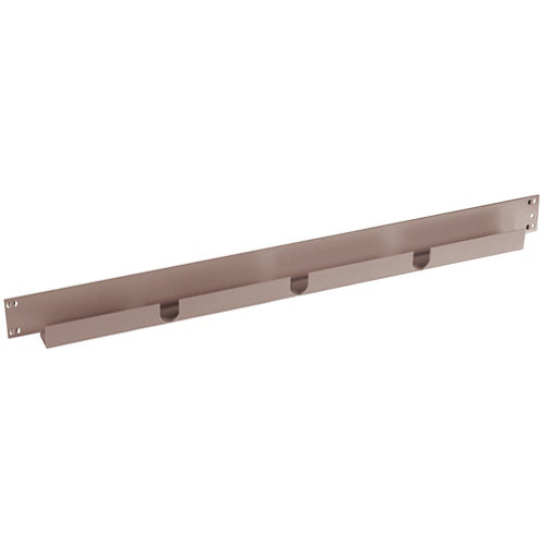 Pack 2 largueros para estantería de metal epoxi de 6.5x45x3 cm