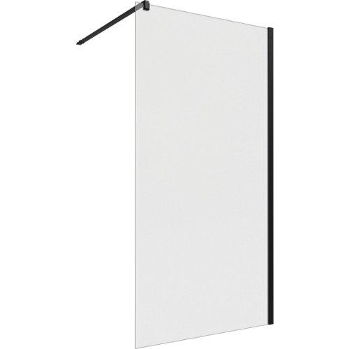 Panel de ducha neo transparente perfil negro 100x200cm