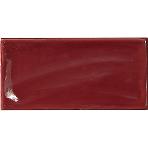 Azulejo de decoración glamour de pasta roja rojo