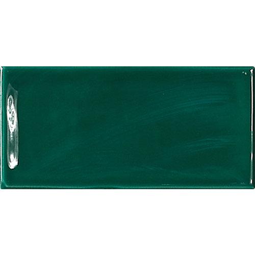Azulejo decorativo glamour 7,5x15 color verde estilo marroquí hecho a mano