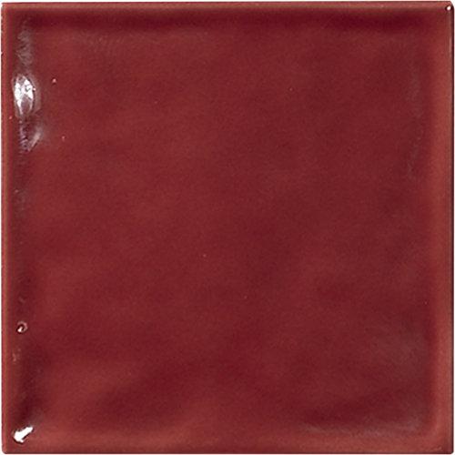 Azulejo de decoración chic de pasta roja rojo