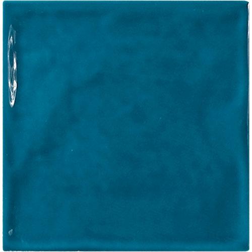 Azulejo de decoración chic de pasta roja azul