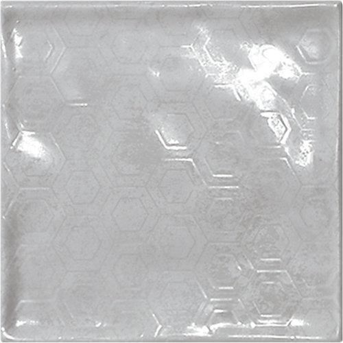 Azulejo de decoración chic de pasta roja gris / plata