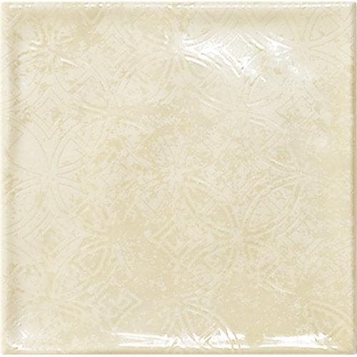 Azulejo de decoración chic de pasta roja beige