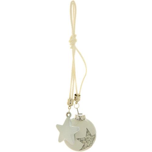 Bola o estrella colgante blanco navidad ø5 cm