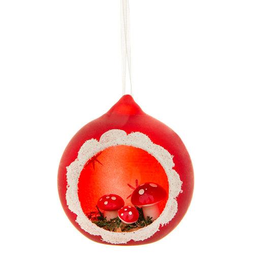 Adorno colgante de bola cristal setas rojo y verde ø8 cm