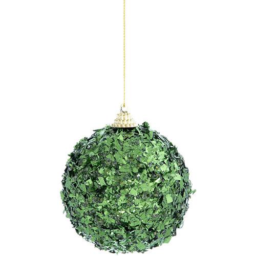 Bola colgante verde de espuma navidad ø8 cm