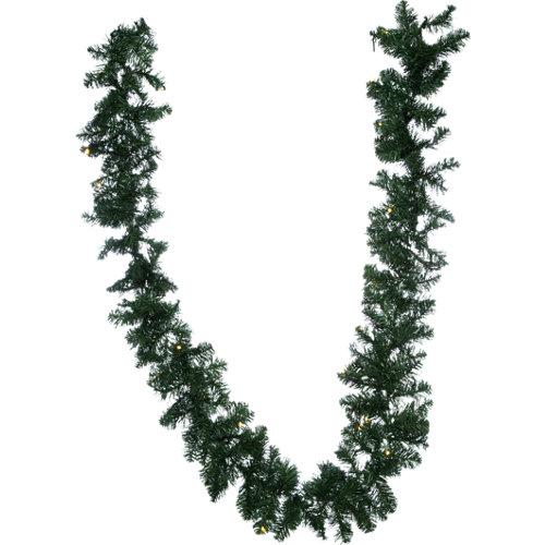 Guirnalda imperial verde blanca 25x270 cm