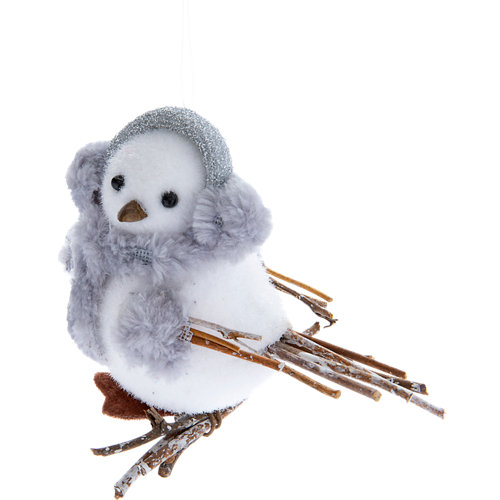 Adorno pájaro espuma navidad 8,5 cm