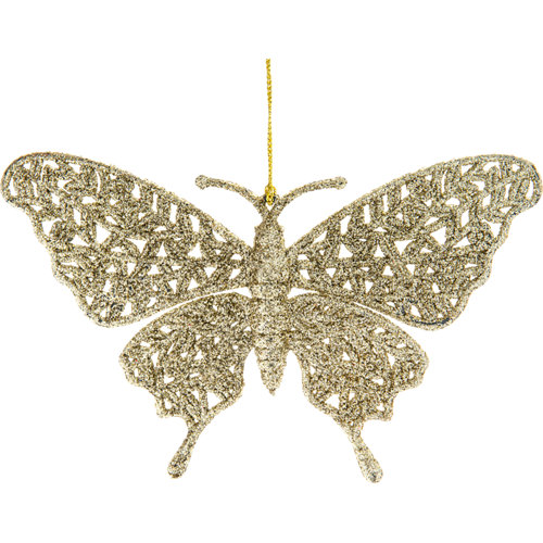 Adorno colgante de mariposa oro 10 cm