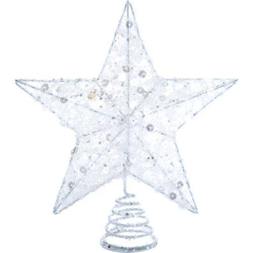 Punta estrella plata 12x20x5 cm