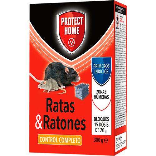 Raticida cebo bloque ratas&ratones protect home 300 gr