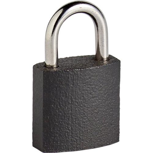 Candado con llave con cuerpo hierro y asa de acero cromado