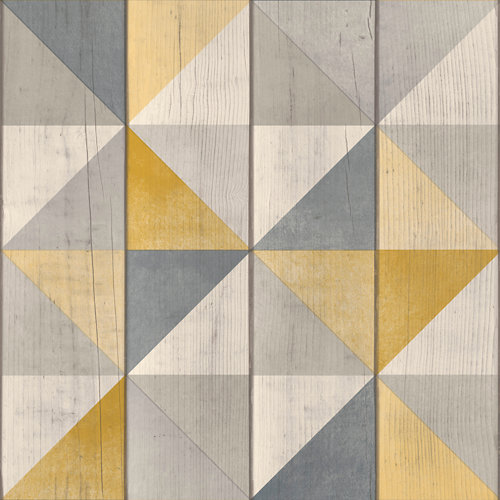 Papel rombos amarillo 5,3 m²