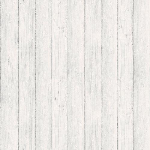 Papel láminas madera blanca 5,3 m²