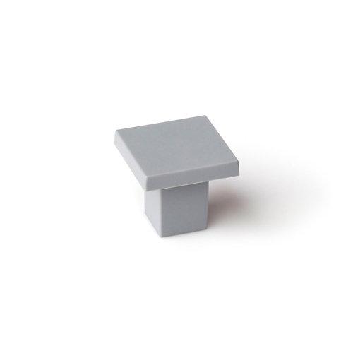 Pomo fabricado en plástico aluminio, medidas: 30x28mm