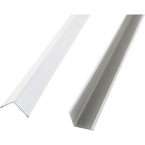 Perfil angular blanco 24x24 3m
