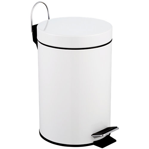 Papelera de baño urban blanco 3l
