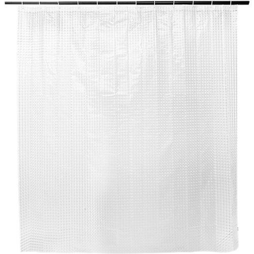 Cortina de baño 3d cube transparente peva 180x200 cm