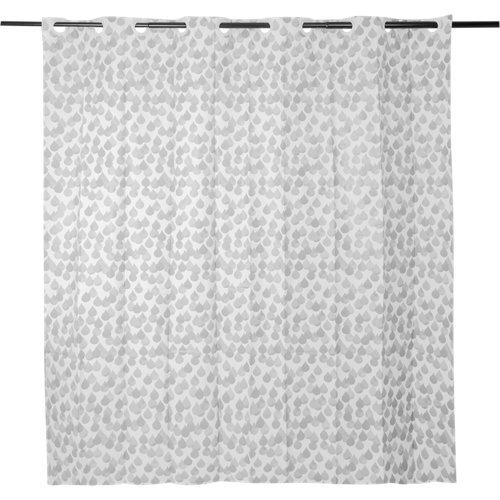Cortina de baño easy gris peva 180x200 cm