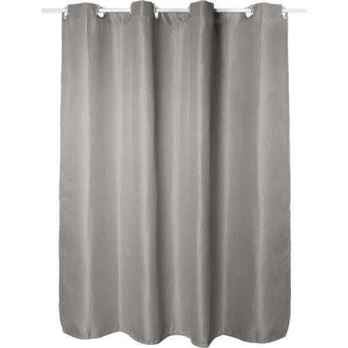 Cortina de baño maya gris granito poliéster 180x200 cm