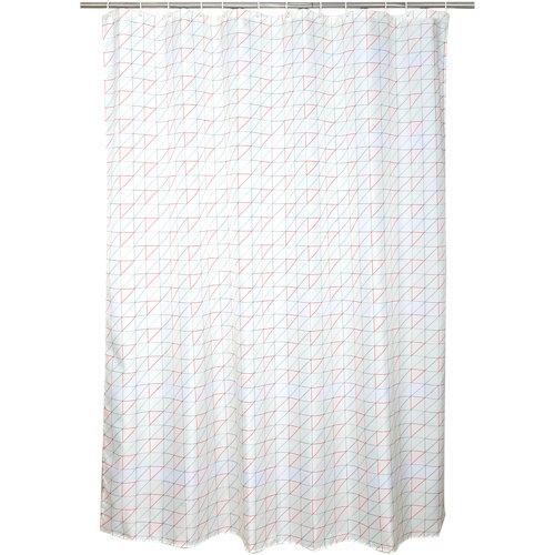 Cortina de baño remix multicolor poliéster 180x200 cm