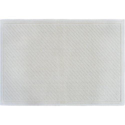 Alfombra de baño bubble rectangular crema 53x76 cm
