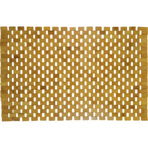 Alfombra de baño borneo rectangular marrón 50x80 cm