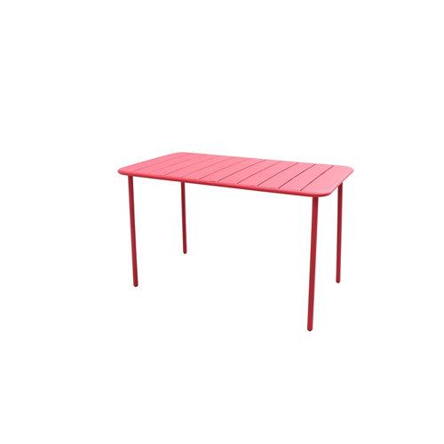 Mesa de balcón de metal naterial café rojo 72x120 cm