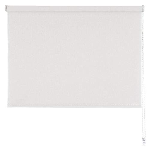 Estor enrollable sunset black-out blanco 90x250