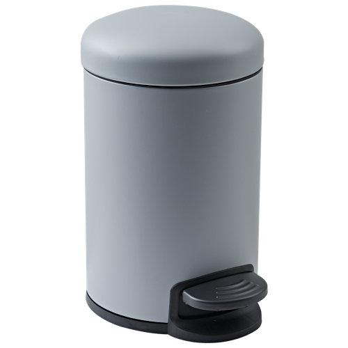 Papelera de baño easy gris plata 3l