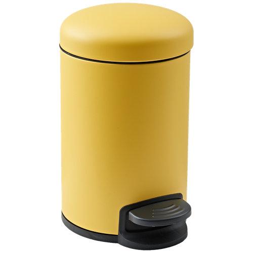 Papelera de baño easy amarillo 3l