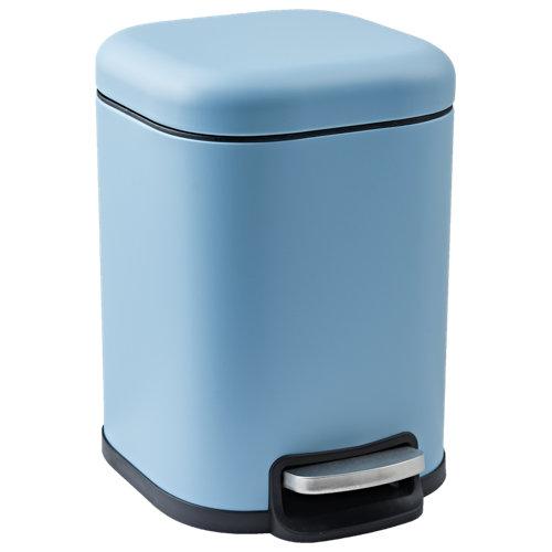 Papelera de baño remix azul 6l