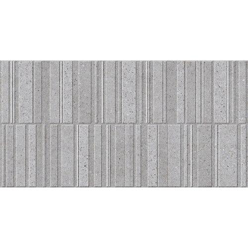 Azulejo de decoración sassi de gris / plata