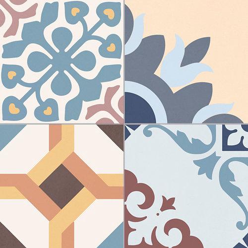 Pavimento porcelanico esmaltado multicolor