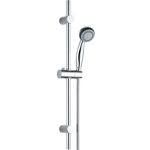 Alcachofa de ducha + flexo + barra sensea ryco cromado con 3 funciones