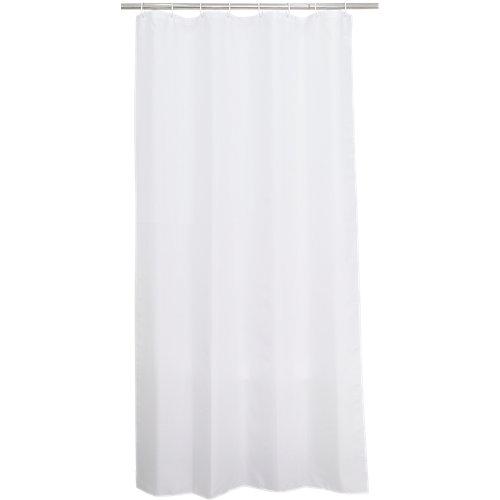 Cortina de baño happy blanco poliéster 120x200 cm