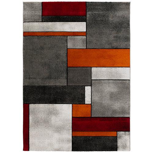 Alfombra gris polipropileno malmo 160 x 230cm