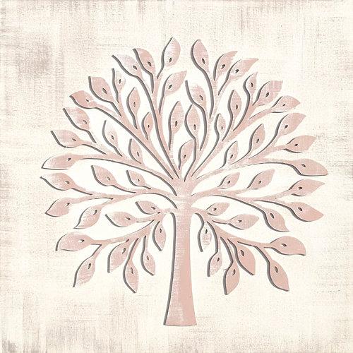 Pintura láser árbol rosa 50 x 50 cm